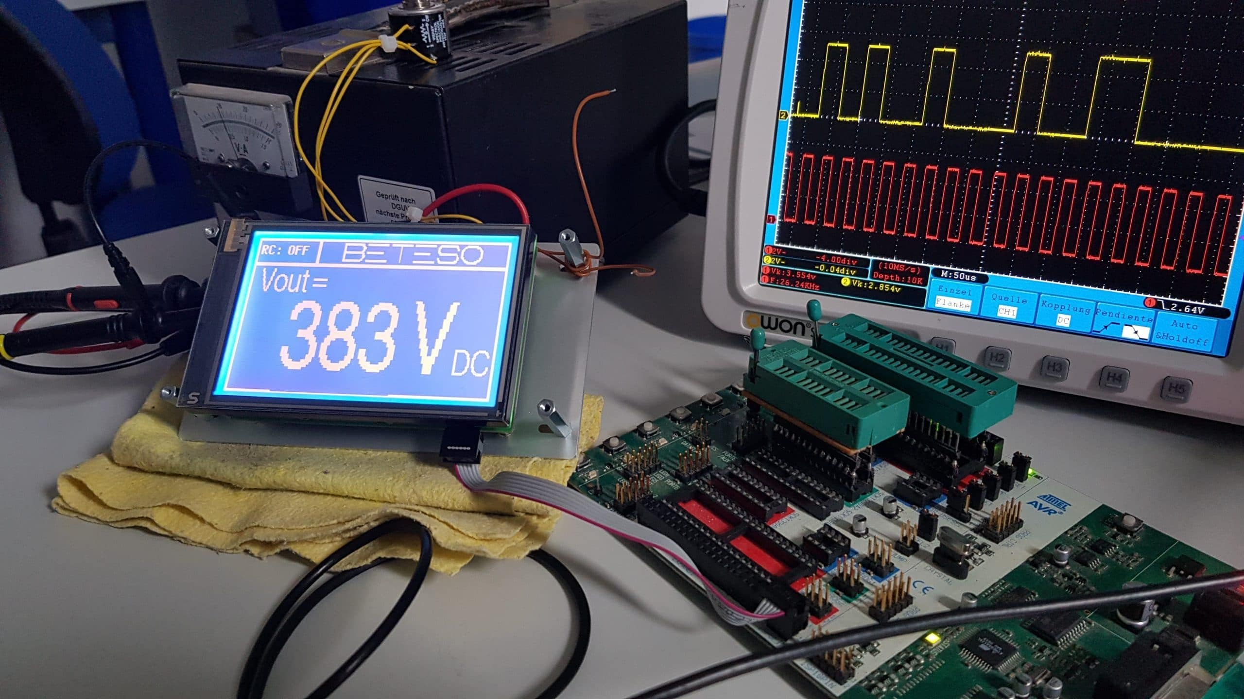 Simple voltage display on EA-eDIP240