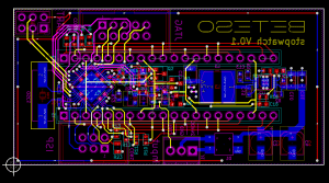 Stopwatch with digital display in KiCad