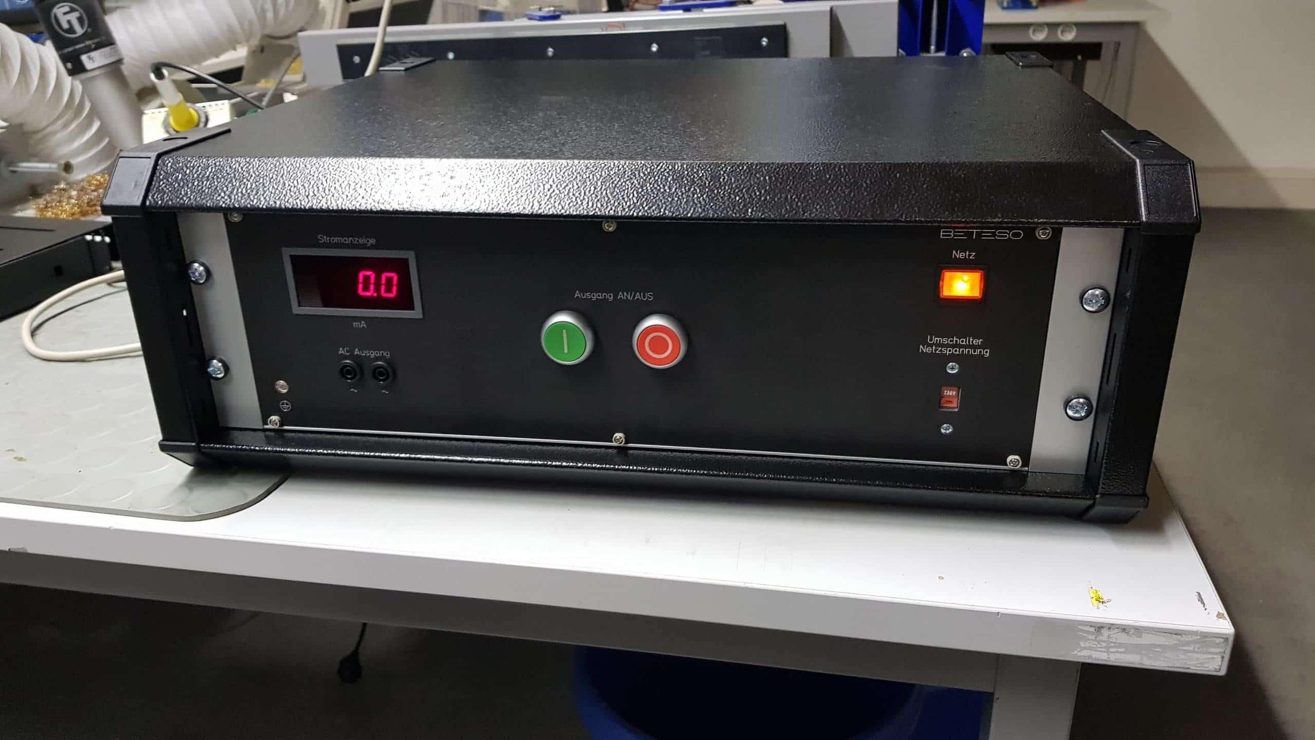 Plasma-Zündquelle für Mikroskop – Achtung Hochspannung!