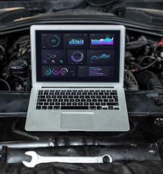 Bild Laptop Motor