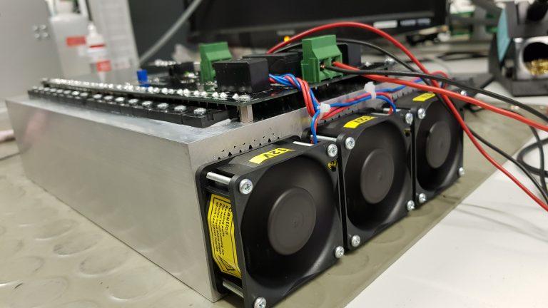 Kühlkörper einer Belastungseinheit für Testaufbauten