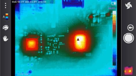 Screenshot der FOTRIC App LinkIR bei der Wärmebildmessung