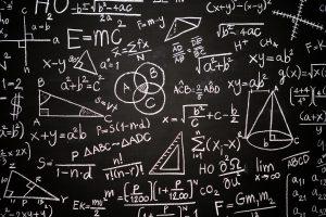 Tafel mit Berechnungen Leistungsklasse
