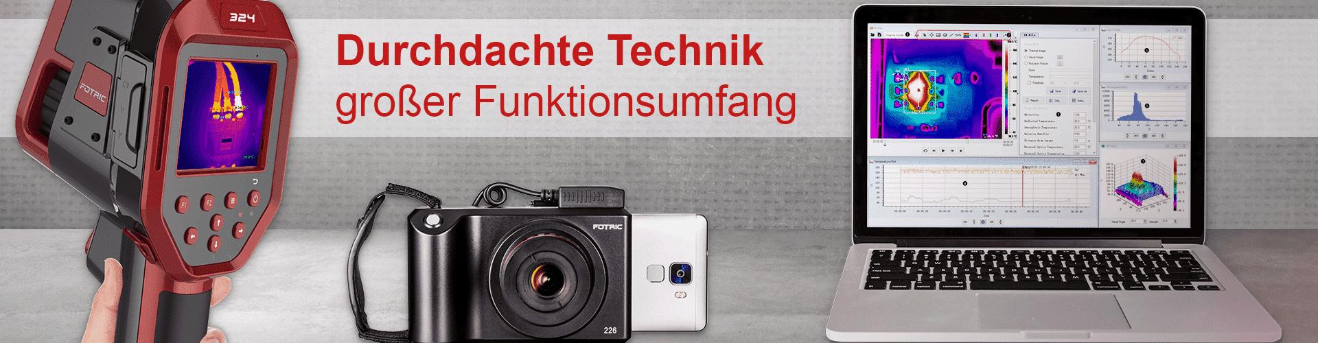 FOTRIC Wärmebildkameras durchdachte Technik - großer Funktionsempfang
